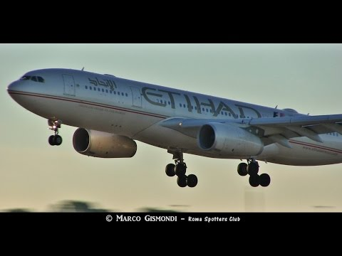 Etihad Airways A330 inaugural flight to Rome