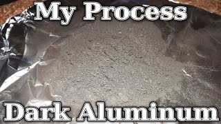 How To: Dark Aluminum In Bulk (My Homemade Process)