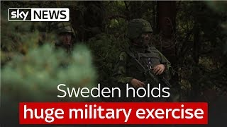 Sweden holds huge military exercise