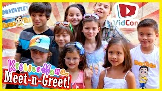 KITTIESMAMA MEET-N-GREET WITH BRATAYLEY AND EVANTUBEHD! | VIDCON DAY 3