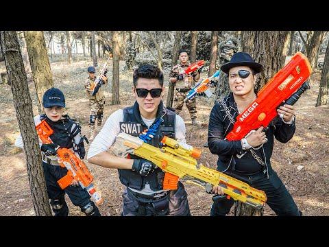 LTT Game Nerf War : Captain Warriors SEAL X Nerf Guns Fight Criminal Group Inhuman new Detachment