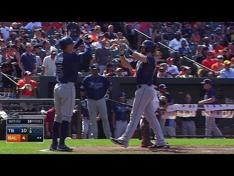 TB@BAL: Forsythe belts a two-run homer off Matusz