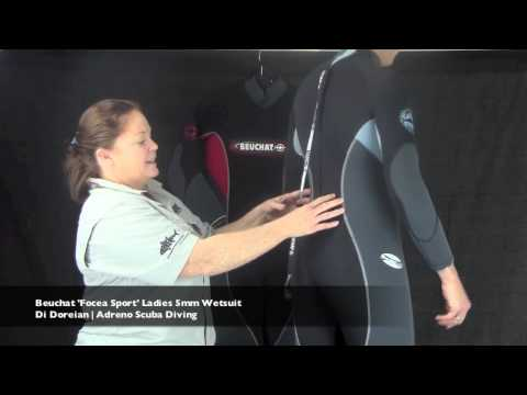 Beuchat 'Focea Sport' Womens 5mm Scuba Diving Wetsuit