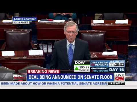 Harry Reid, Mitch McConnell Announce Bill to End Shutdown, Raise Debt Ceiling