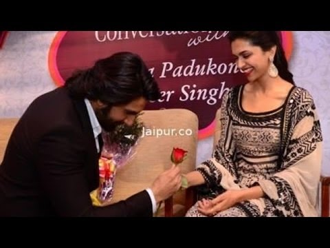 Ranveer Singh Proposes Deepika In Public @ IIFA 2014