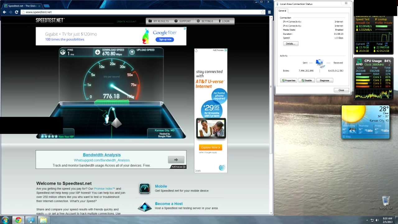 speed test google fiber