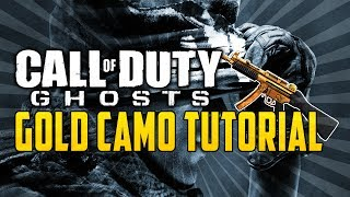 Call Of Duty Ghosts: How To Get GOLD Guns & Camo (COD