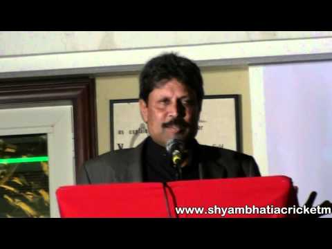 12th Shyam Bhatia Annual Awards - Kapil Dev Speech