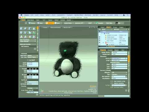 Control fur with image-mapping in modo