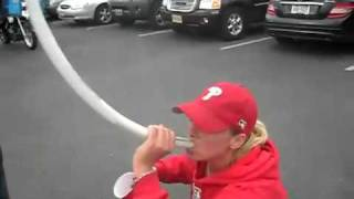 Phillies Fan Drinking Out Of a Bong Gets a Special Surprise from the Cops