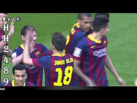 Leo MESSI GOAL [1-0] ~ Barcelona vs Osasuna 7-0 ~ Barcelona 7 0 Osasuna ~ 16-03-2014