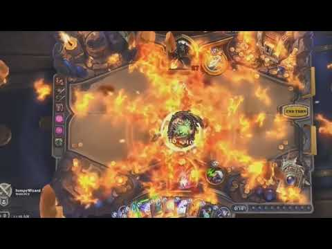 Azari the Devourer in action | BlizzCon 2017 Hearthstone: Kobolds & Catacombs