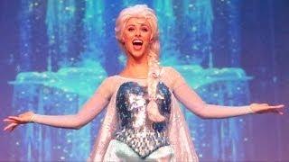 "Anna, Elsa & Kristoff ""Let It Go"" At Disney's FROZEN Sing"