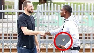 Giving Air Jordan's To Strangers