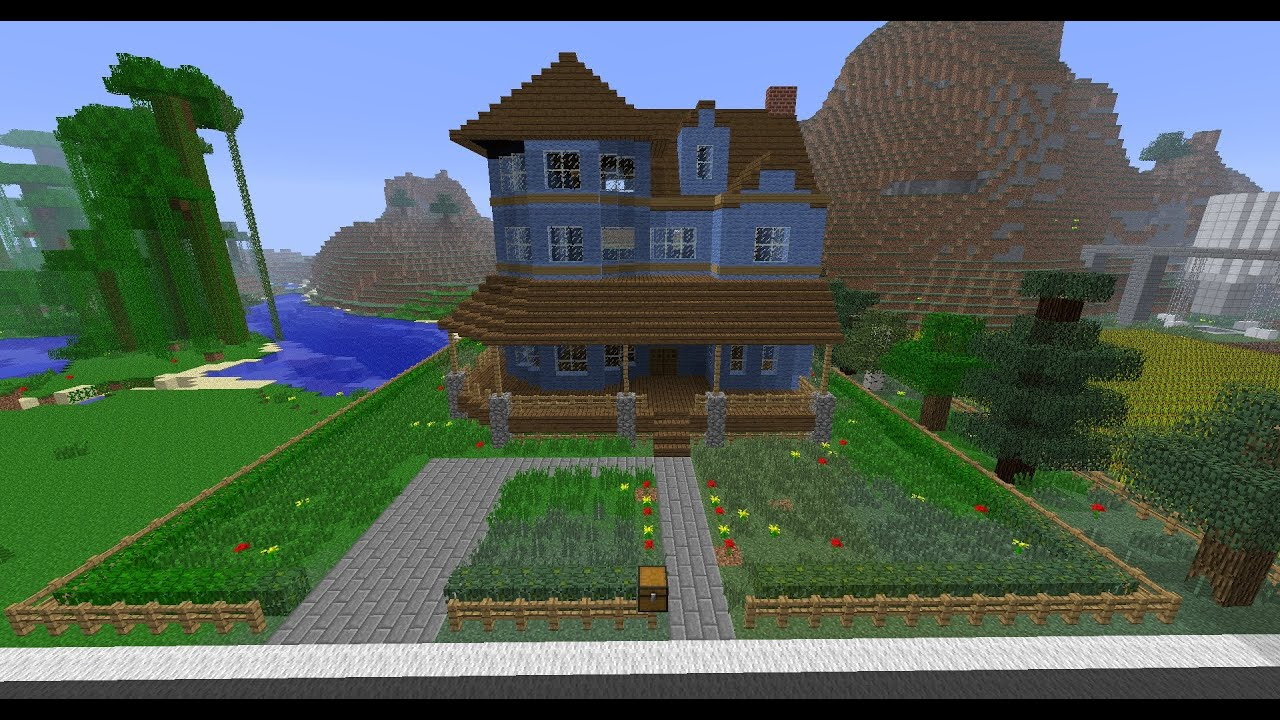 Minecraft - Building Victorian House In Time Lapse