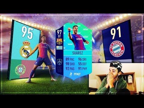 FIFA 18: 97 TOTS SUAREZ im PACK + ELITE FUT Champions Rewards | FIFA 18 Full TOTS Pack Opening