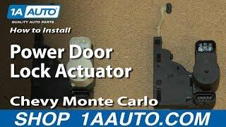 How To Install Replace Power Door Lock Actuator 2000-07