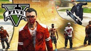 GTA V Online - BAJANDO LA MONTAÑA EN SKATE - NexxuzHD