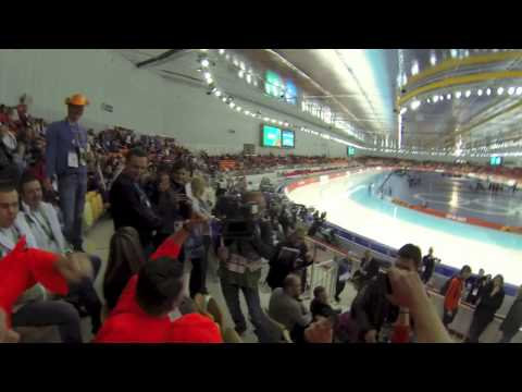 Russia - Sochi. Winter Olympics 1000M Speed Skating fans.