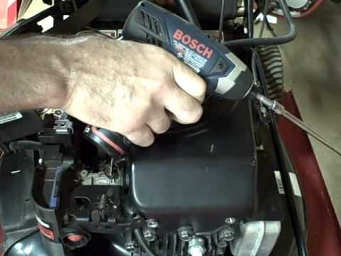 Small engine repair easy way to adjust ignition armature for Grayson armature small motor