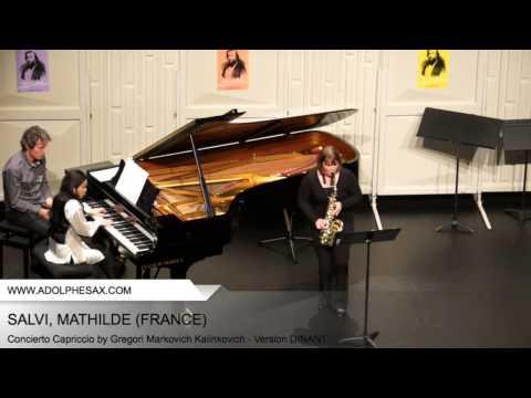 Dinant 2014 – SALVI Mathilde (Concierto Capriccio by Gregori Markovich Kalinkovich – Version DINANT)