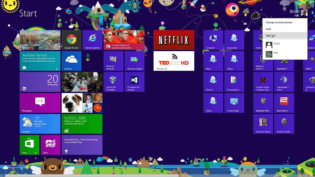 how to change windows 8 lock screen picture