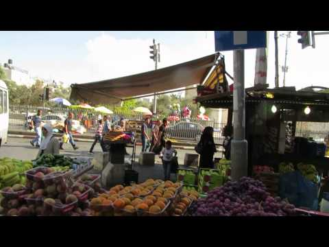 The Market near Damascus (Jerusalem) Gate during the Muslim holiday - Eid al-Adha (عيد الأضحى)