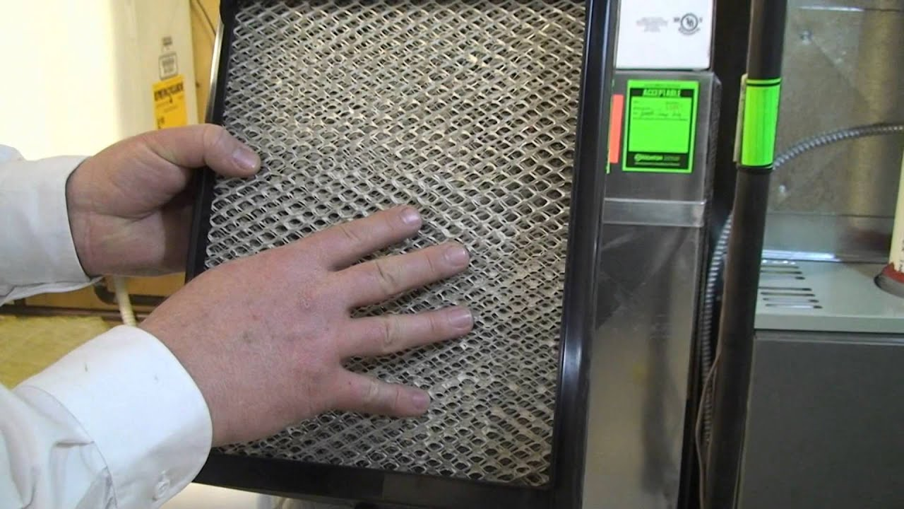 How To Change the Evaporator Pad on Humidifier Acclaimed Furnace  #36BB10