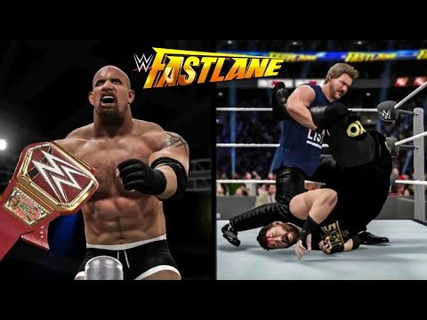 WWE 2K17 Fastlane 2017 Story - Goldberg vs Kevin Owens & Chris Jericho Attacks Kevin Owens!