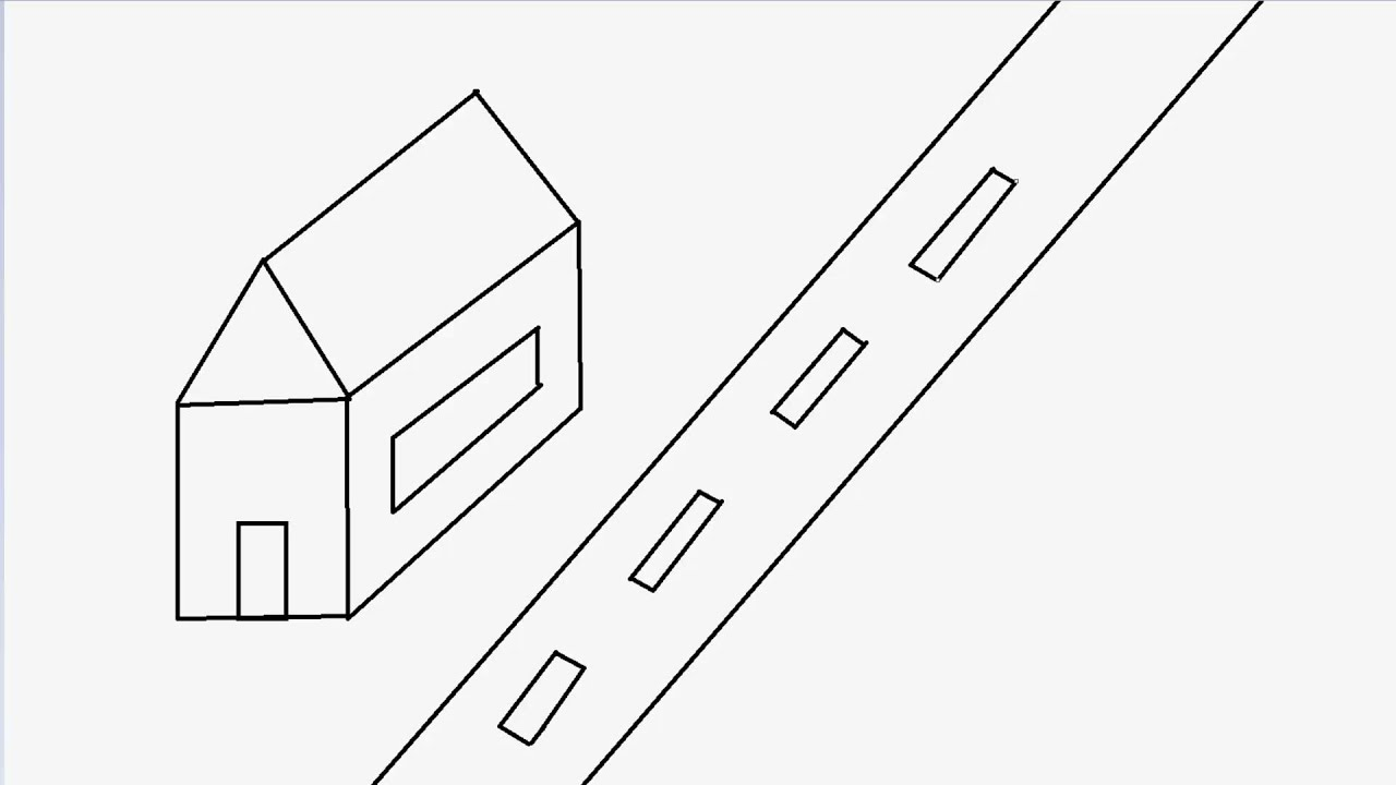 how to draw a 3d road