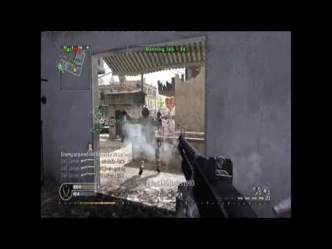 first ever 6 man shotgun kill feed COD 4