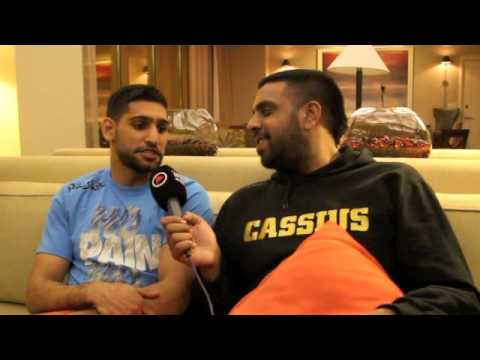 AMIR KHAN TALKS LUIS COLLAZO, SIGNING WITH AL HAYMON, MAYWEATHER, BRONER & THURMAN