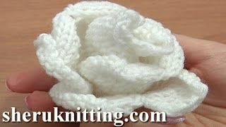 Knit Rose Flower Pattern Tutorial 13 Free Flower Knitting