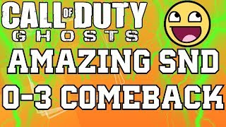 Call of Duty: Ghosts - Amazing 0-3 Search and Destroy Comeback on Flooded