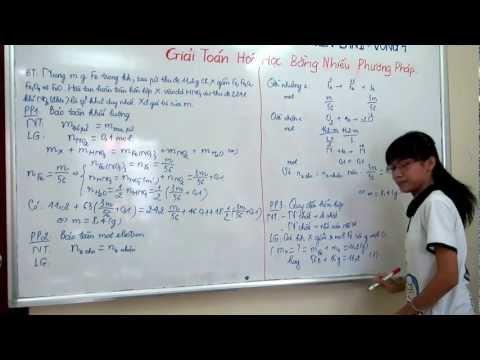 [HÓA] Giải bài toán hóa học bằng nhiều cách
