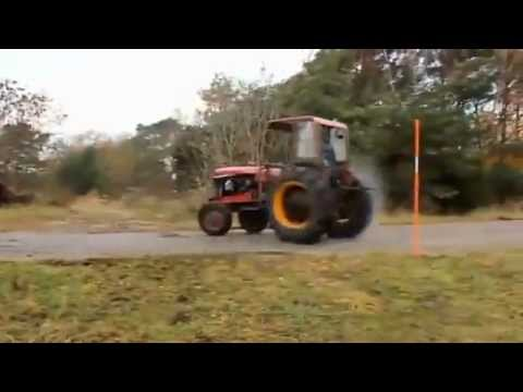 Crazy burnout tractor!