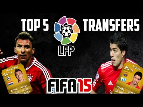 Luis Suarez to Barcelona | Top 5 La Liga Transfers | FIFA 15