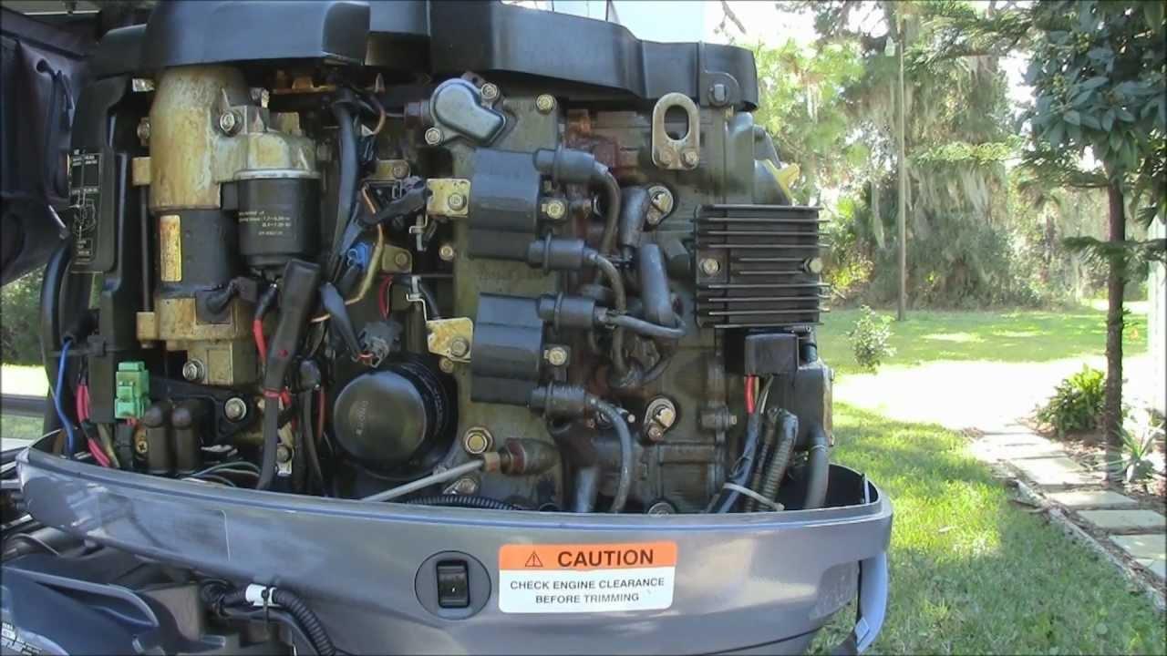 Wiring Diagram Yamaha F60 : Yamaha f tlr outboard engine maintenance youtube