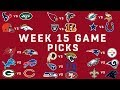 Week 15 NFL Game Picks | NFL