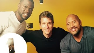 """Greg's about to cry!"" - Dwayne 'The Rock' Johnson & Kevin Hart meet BBC Radio 1's Greg James"