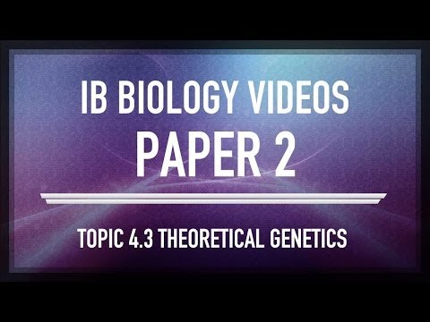 SAQ (4.3) Theoretical genetics - IB SL Biology Past Exam Paper 2 Questions