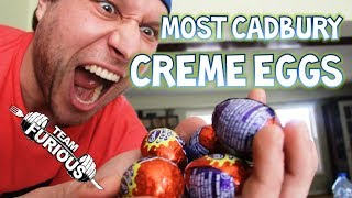 Most Cadbury Creme Eggs Eaten in One Minute (Guinness World Records) | Furious Pete