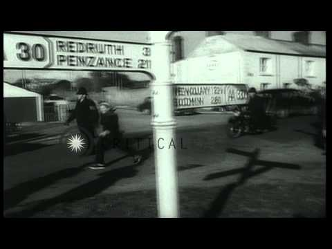 Health enthusiast Dr. Barbara Moore walks from Scotland to Land's End, Wales in t...HD Stock Footage