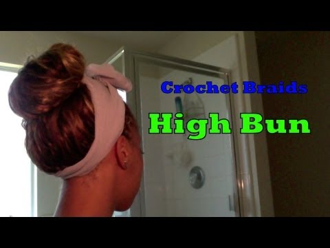 Crochet Braids Bun : Crochet Braids High Bun - YouTube