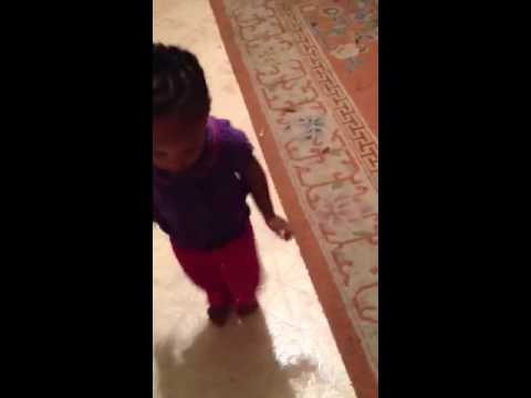 Baby dancing to