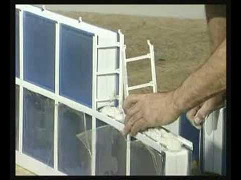 Montaż pustaków szklanych ClaroGlass w systemie LUX-PROF - ścianka łukowa