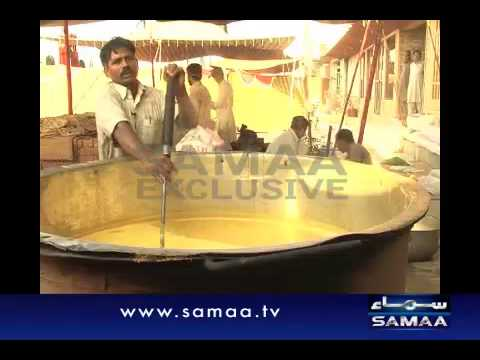 King sized cooking pot for Muharram Halim in Faisalabad.