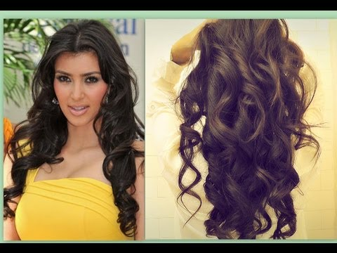 ★ KIM KARDASHIAN HAIR TUTORIAL | HOW TO CURL LONG HAIR | BIG, SEXY, SOFT CURLS HAIRSTYLES \CURLY
