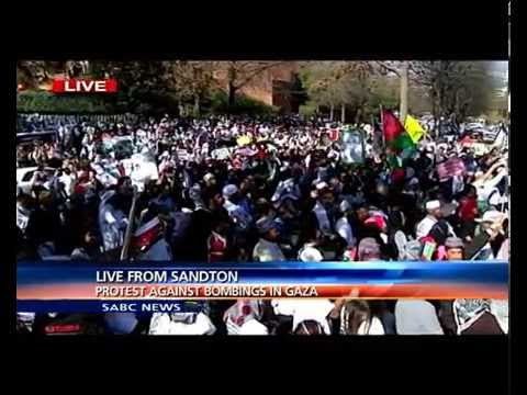 South African protest against bombing in Gaza