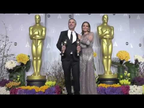 WATCH: Angelina Jolie Spotted at Oscars Press Room